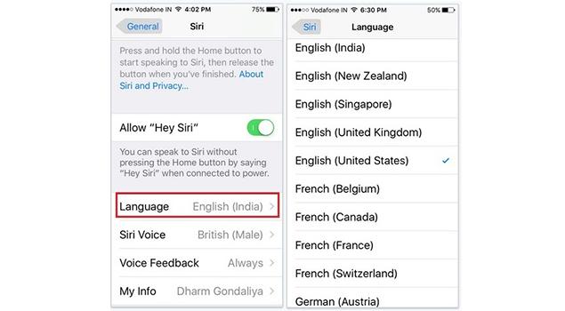 How To Change Siri Language On iPhoneiPad - Siri Voice Changer - Siri Assitance