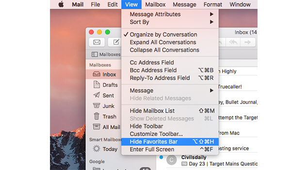How To Customize Mailboxes View Of Mail App