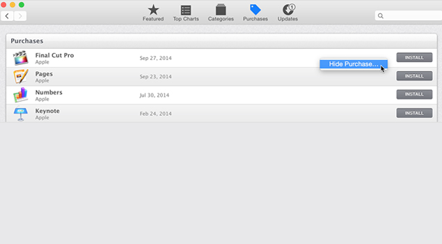 How To Hide Mac App Store Purchases