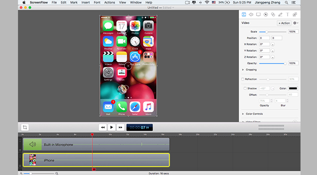 How To Record iPhone Screen With ScreenFlow