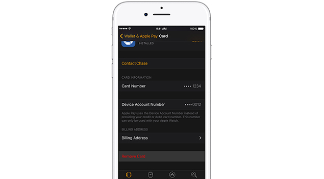 how to remove credit debit card from your apple pay