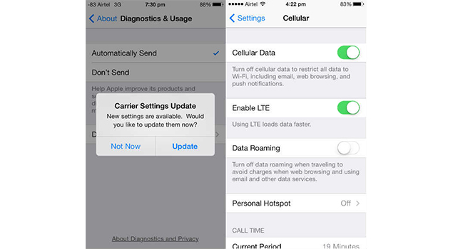 LTE Support - iPhone 5 Features