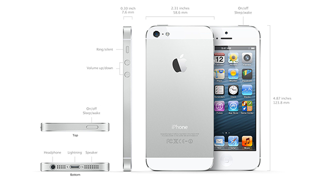 Physical Specifications-iPhone 5 specs