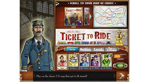Ticket To Ride-Best iPad Board Games Collection From App Store
