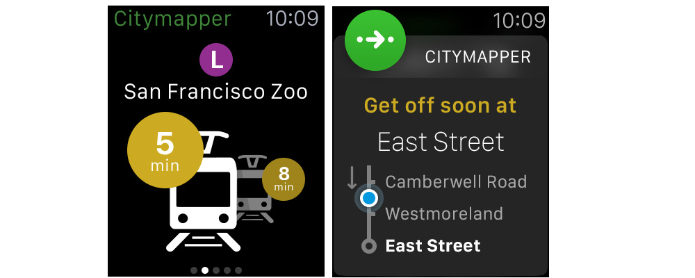 CityMapper-Some Of The Best Apple Watch Apps Available On App Store