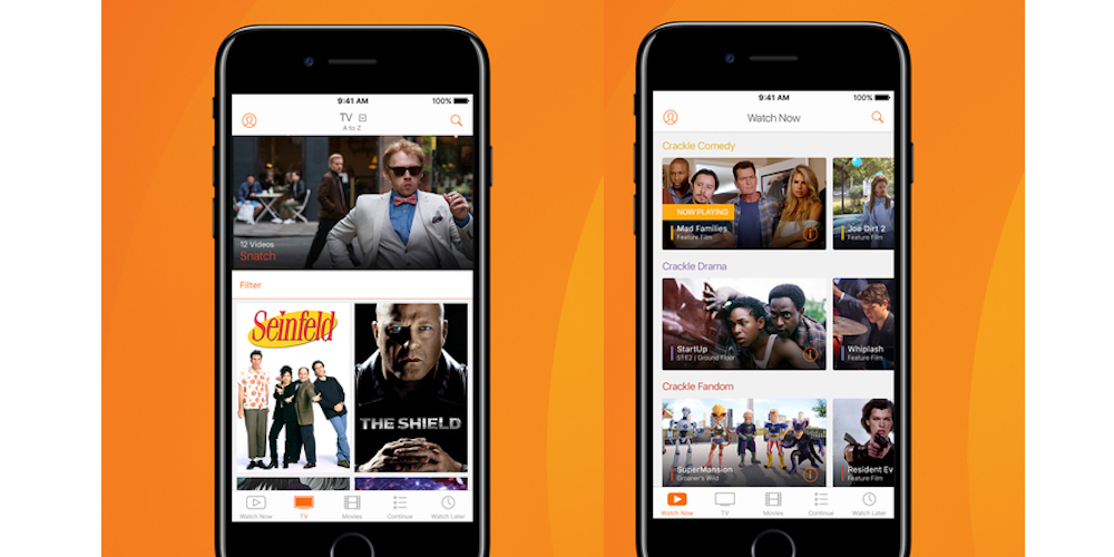Crackle- 10 Best iPhone Apps For Free Movies