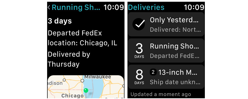 Deliveries-Some Of The Best Apple Watch Apps Available On App Store