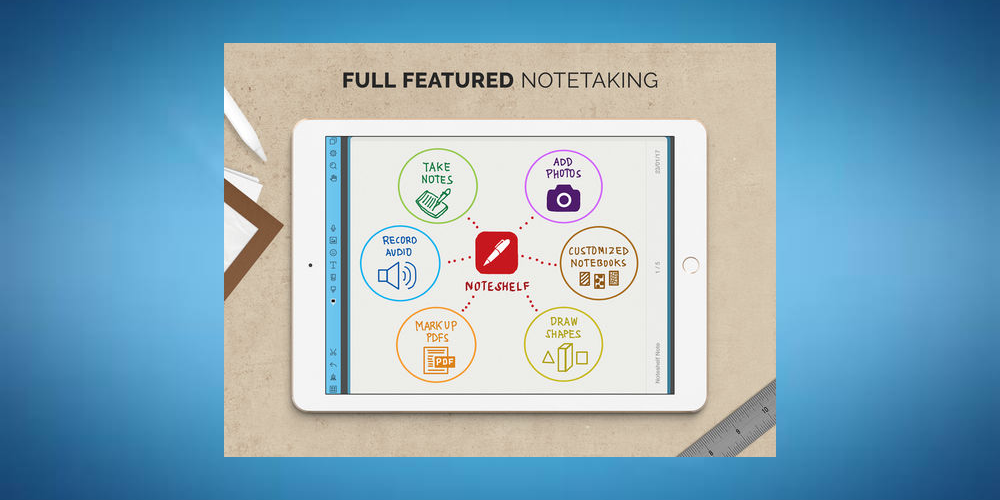 Noteshelf- Best iPad Apps For Taking Notes-