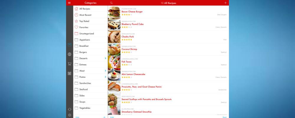 Paprika- some of the best holiday cooking apps for ipad