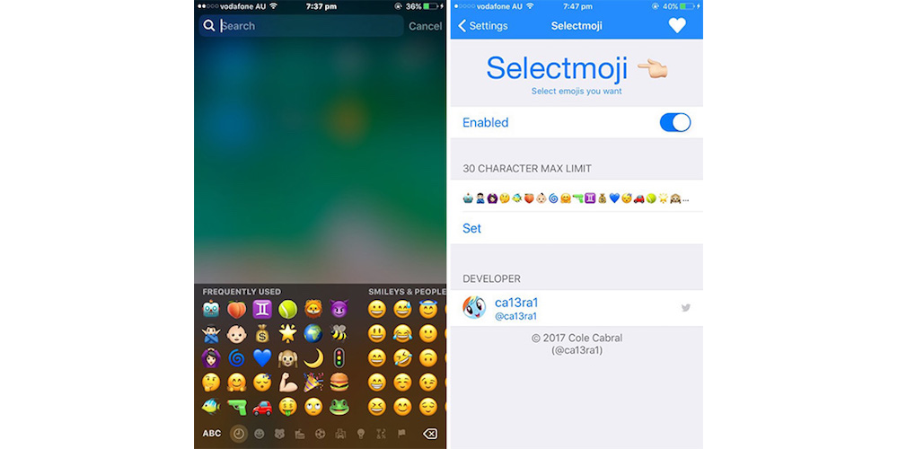 Selectmoji- Latest iOS 10.2 Tweaks Revealed - Lockscreen XI, Modern, Selectmoji And More