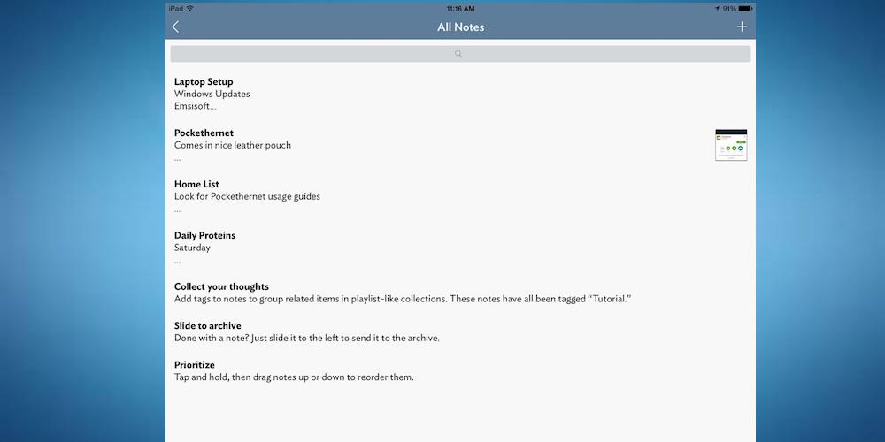 Vesper- Best iPad Apps For Taking Notes