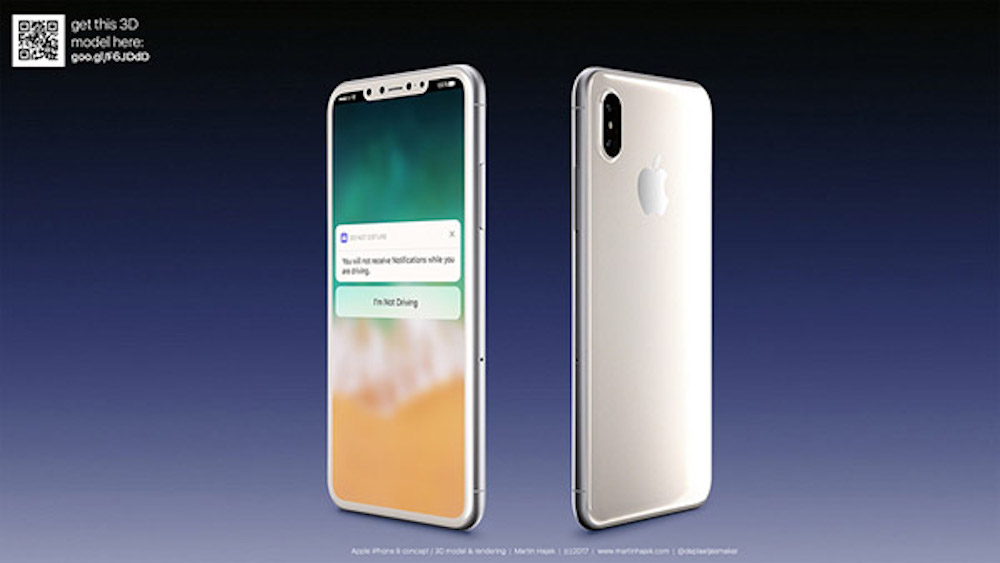 iPhone-8-white-renders-Rumors And News About iPhone 8 Concept – What The New Version Will Look Like