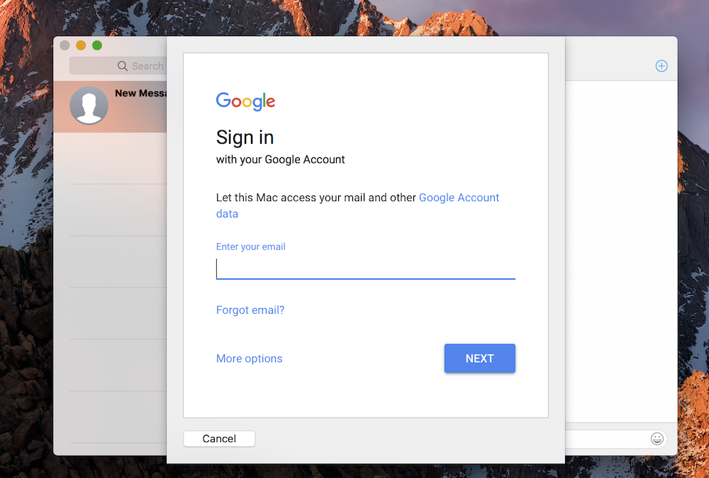 sign in-How To Setup Google Hangouts On Mac Using Messages App