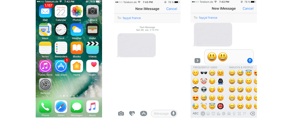 Making Emojis 3X Bigger In iMessage-How You Can Use Tapbacks And Emoji In iMessage On A Device Run