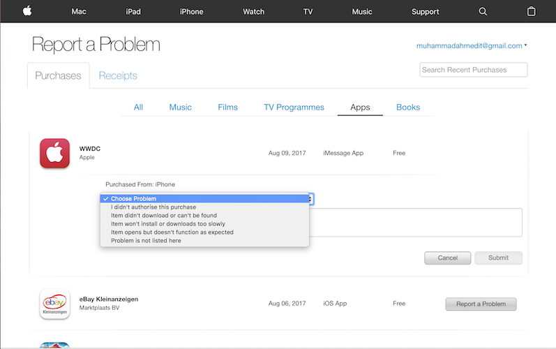 Requesting A Refund With iTunes On Your MacWindows-How You Can Get Refunds On Your App Store Purchases