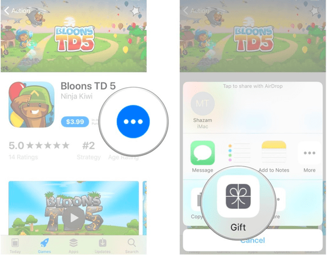 Sending App Store Content As Gift Card When Using iOS 11-How You Can Gift And Redeem Apps in App Stor