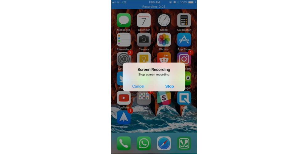 Using Built-In Screen Recording Feature On iPhoneiPad Running iOS 11 4