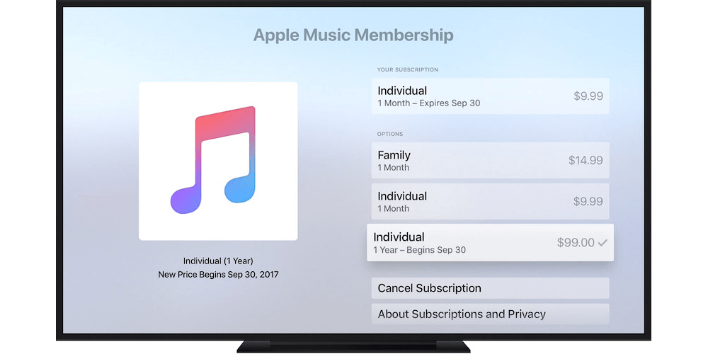Changing Subscription On Apple TV-How To Manage Apple Music Membership