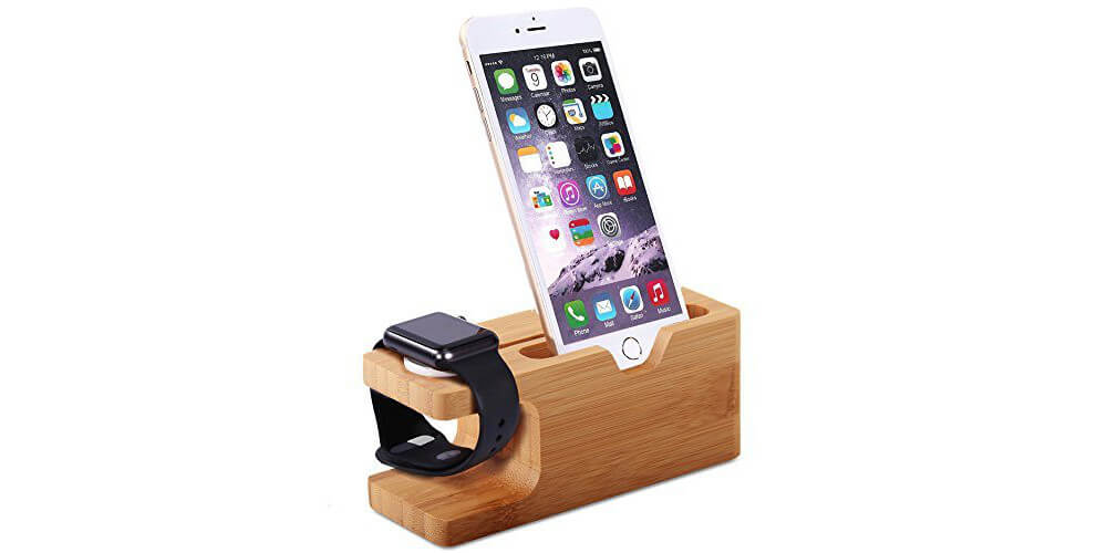 Aerb Bamboo Docking Station-Best Apple Watch Accessories