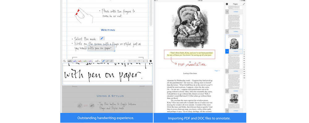 Notes Plus-Best Handwriting Apps For iPad In 2018