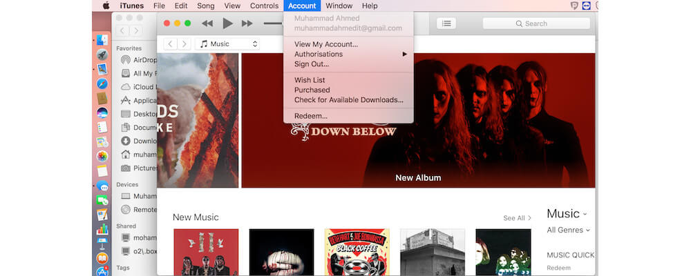 Signing Out From iTunes-How To Reset A Mac Before Selling It