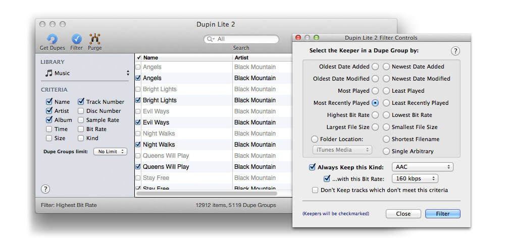 Using Dupin Lite For Removing Duplicates On iTunes-remove duplicates