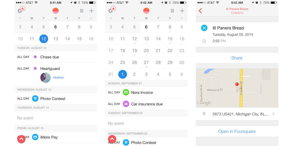 Sunrise Calendar -Our Pick For The Best Calender App